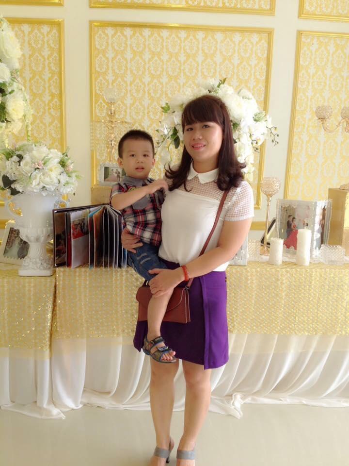 Chị Dương rất tự hào về cậu con trai khỏe mạnh (Ảnh: NVCC)