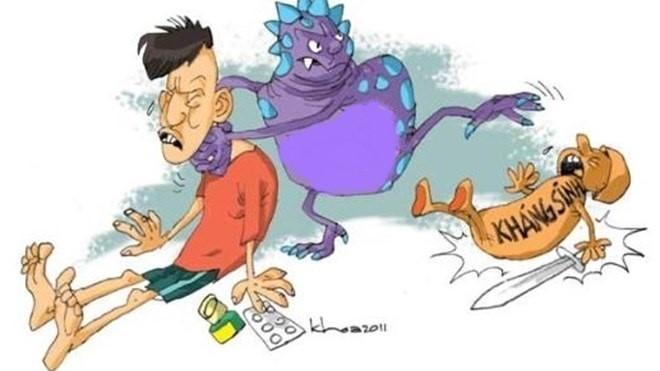 80% trẻ bị viêm mũi họng là do viurt, kháng sinh không có tác dụng (Ảnh: minh họa)